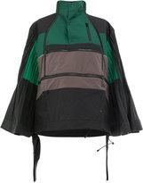 Facetasm wide pleated waterproof jacket