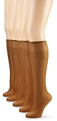 Nur Die Women's 5er Knie Seidenfein, 626969 Knee-High Socks, 15 DEN,(Pack of 5)
