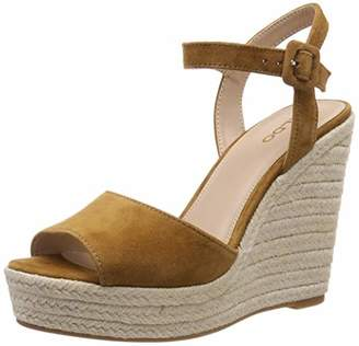 Aldo Women's YBELANI Ankle Strap Sandals, (Light Brown 27)