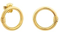 Tous 18K Yellow Gold-Plated Sterling Silver Small Hold Earrings