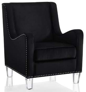 Nixon Wingback Chair CosmoLiving by Cosmopolitan Upholstery Color: Black