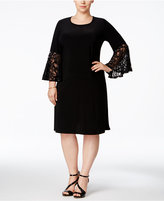 R & M Richards Plus Size Ruffled-Sleeve Sheath Dress