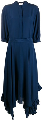 Stella McCartney Asymmetric Hem Midi Dress