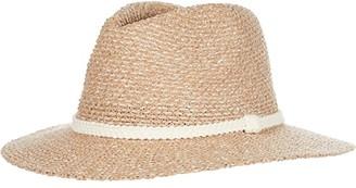 San Diego Hat Company Fedora w/ Woven Lurex Braided Trim (Camel) Fedora Hats