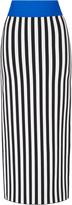 David Koma Striped Intarsia Skirt