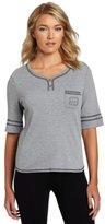 Karen Neuburger Women's Basic Henley Pajama Top