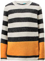 John Lewis Boys' Stripe Seed Stitch Knit Jumper