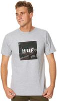 HUF Muted Military Box Logo Mens Tee Grey