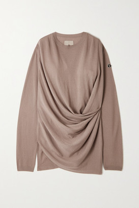Moncler + Rick Owens Draped Cashmere Sweater - Gray