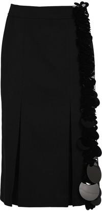 Prada Embellished Pleated Midi Skirt