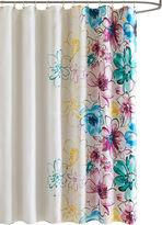 INTELLIGENT DESIGN Intelligent Design Ashley Printed Shower Curtain