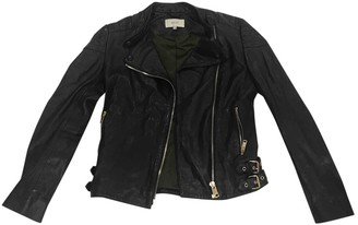 Reiss Black Leather Jacket for Women