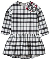 Il Gufo Check Dress with Pleated Skirt