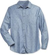 William Rast Men's Finley Textured Denim Shirt