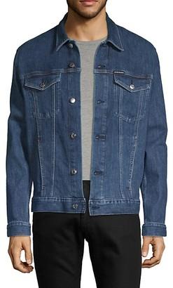 Calvin Klein Jeans Logo Graphic Denim Jacket
