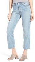 Paige Women's Sarah High Waist Crop Straight Leg Jeans