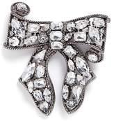 Kenneth Jay Lane Glass crystal bow brooch