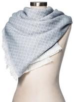 Merona Women's Blanket Scarf Neutral Geo Pattern