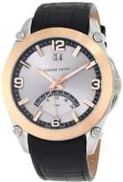 Pierre Petit Men's P-806B Serie Le Mans Rose-Gold PVD Bezel Dual-Time GMT Leather Watch