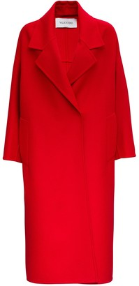 Valentino Wraparound Coat In Cashmere And Wool