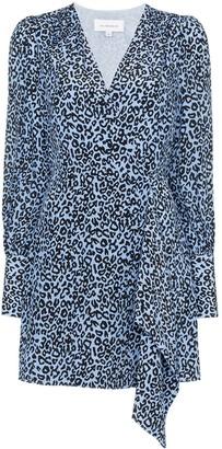 Les Rêveries leopard-print wrap dress