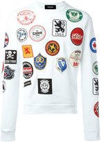 DSQUARED2 logo patch print sweatshirt