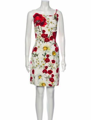 Dolce & Gabbana Floral Print Mini Dress White