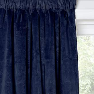 John Lewis & Partners Velvet Pavone Lined Multiway Curtains, Navy
