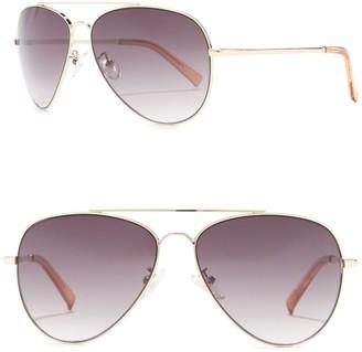 Le Specs 59mm Fly High Aviator Sunglasses
