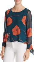 Cupcakes And Cashmere Josette Floral Print Swing Top