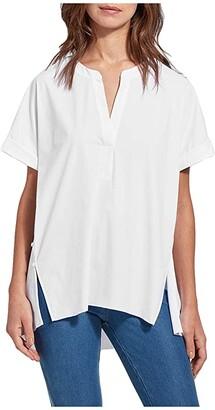 Lysse Finley Microfiber Top (White) Women's Clothing