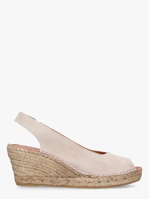 Carvela Comfort Sharon Wedge Heel Espadrille Sandals, Taupe Suede