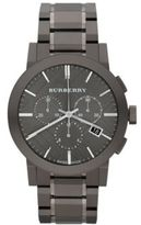 Burberry Brushed Stainless Steel Chronograph Watch
