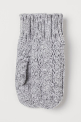 H&M Cable-knit mittens