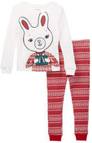 Joe Fresh Waffle Knit Pajama Set (Toddler Girls)