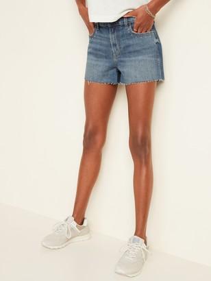 Old Navy Mid-Rise Studded-Pocket Boyfriend Cut-Off Jean Shorts for Women -- 3-inch inseam