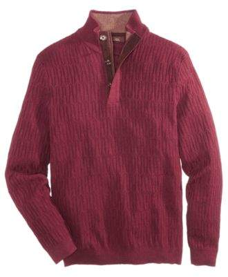 Tasso Elba Men's Mock Neck Sweater, Created for Macy's