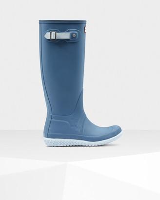 Hunter Women's Original Flat Heel Calendar Sole Tall Rain Boots
