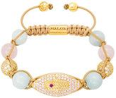 Nialaya CZ Diamond Bracelet in Aquamarine
