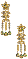 Amrita Singh Komal 22K Yellow Gold, Uncut Diamond & Enamel Earrings