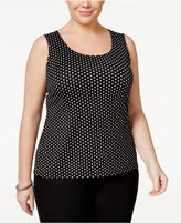 Charter Club Plus Size Polka-Dot Shell, Only at Macy's