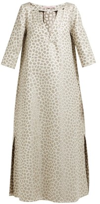 Marta Ferri - Animal-jacquard Midi Dress - Gold