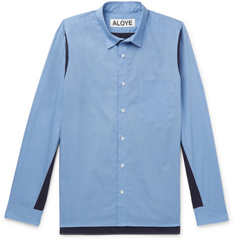 Aloye Colour-Block Cotton-Poplin Shirt
