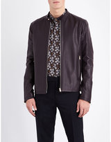 Paul Smith Stand-collar Leather Jacket