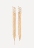 Bebe Snake Fringe Earrings