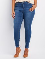 Charlotte Russe Plus Size Medium Wash Skinny Jeans