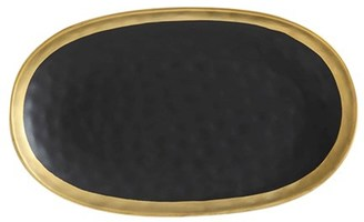 Maxwell & Williams Swank Platter 36 x 22cm Black/Gold