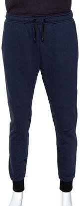 Fendi Navy Blue Knit Monster Eye Cuff Detail Track Pants L