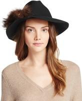 Echo Panama Hat with Asiatic Raccoon Fur Pom-Pom