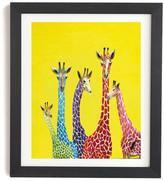 DENY Designs Clara Nilles Jellybean Giraffes Wall Art